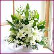 フラワーアレンジメント(ホワイトリリー) お誕生日 出産祝い 結婚記念日 お見舞い 開店祝い