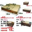 畳ユニット ロータイプ Aセット ブラウン SaTY-AsetL-BR 畳 収納 畳ベンチ 小上がり 畳 セット