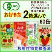 ヒカリ・有機野菜ジュース 2箱セット/ 4種類から2箱選んで 野菜飲むならこれ一日分・にんじんジュース・アップルキャロット・果実と野菜のジュース