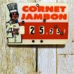 フランスの古いプライスピック フランスの古い値札 フランスの古い雑貨 フランスの古い小物 丸めたハム Cornet Jambon #011