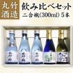 【送料無料】丸竹酒造 お試し飲み比べセット 二合瓶(300ml)x5本