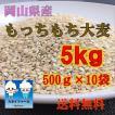 もっちもち大麦 5kg (500g×10袋)送料無料 国産 30年産 ※北海道・沖縄の方別途送料756円かかります。