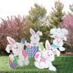 ハロウィン イースター デコレーション イースターバニー うさぎ 庭用うさぎのスタンド 4点セット 装飾 飾り イベント グッズ