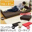 ベッド 脚付き マットレス シングル ロータイプ 折りたたみベッド HSW-L01