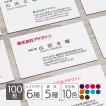 名刺作成 印刷 ビジネス オリジナル 100枚 DM便送料無料 超シンプル 横型 テンプレートで簡単作成 初めてでも安心 b049