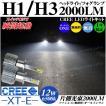 LEDヘッドライト/フォグランプ H1 H3 オールインワンキット CREE XT-E 12w 6500k 2000lm 1年保証 リレーレス ファンレス 無極性 バルブ