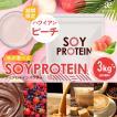 ( ソイプロテイン チョコレート味 3kg )500g×6袋 ≪スプーン付≫ プロテイン 美容 ダイエット 大豆 スポーツ 大容量 アミノ酸 送料無料 ギフト
