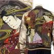 【花旅楽団】芸者刺繍スカジャン【SCRIPT】メンズ レディース リバーシブル 和柄 刺繍