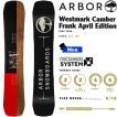 スノーボード 板 フリースタイル パーク 18-19 ARBOR アーバー WESTMARK CAMBER FRANKAPRIL ウエストマーク フランクエイプリル