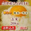 令和元年 福島県会津産ひとめぼれ 玄米20kg(精米無料)