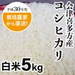 農家直送 会津喜多方産コシヒカリ白米5kg 平成30年度産