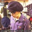 SAVOY CLOTHING Navy&Red Kimono Kasuri Big Casquette ネイビー レッド カスリ ビッグ キャスケット ロカビリー ファッション サボイクロージング 50'S