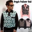 SAVOY CLOTHING Argyle Pullover Knit アーガイル プルオーバー ニット 長袖 チェック メンズ サヴォイクロージング ロカビリー ファッション