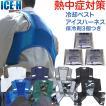 熱中症対策グッズ 冷却ベスト 上位モデル アイスハーネス ノーマルタイプ 保冷剤3個付きセット(DM便/ネコポス不可)