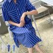 ワンピース レディース 40代 50代 60代 ファッション おしゃれ 女性 上品 コットン ダンガラ ポケット スリット 半袖 夏物 高品質 ミセス