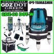 約1〜3日で出荷 送料無料 代引手数料無料 1年保証 YAMASHIN ヤマシン 2ライン ドット グリーン 墨出し器 GDZ-03DOT-W 本体+受光器+三脚