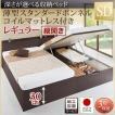 ベッド セミダブル ベッド 跳ね上げ 薄型スタンダードボンネルコイル 縦開き 深さレギュラー組立設置付