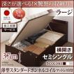 ベッド セミシングル 跳ね上げ ベッド 収納 薄型スタンダードボンネルコイル 横開き 深さラージ 組立設置付