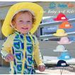 ベビー キッズ 帽子 UVカット SwimZip サンハット 6-24ヶ月 紫外線防止 ベビー 水着とお揃い 無地 長さ調整可能 紐つき 蒸れにくい
