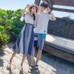 カップル ペアtシャツ 半袖 ペアルック お揃い 服 夏 花柄 パンツ 韓国ファッション デート おでかけコーデ おそろ オルチャンファッション