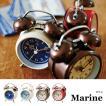 置時計 おしゃれ 北欧 プレゼント 置き時計 アンティーク レトロ 時計 置時計 インテリア  CL-8950 Marine テーブルクロック