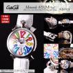 【今だけ!!着せ替えベルトプレゼント】GaGa MILANO ガガミラノ 腕時計 48mm MANUALE マヌアーレ 5010.01S メンズ ホワイト×マルチカラー 腕時計