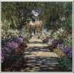 複製画 送料無料 絵画 油彩画 油絵 模写クロード・モネ「ジヴェルニーのモネの庭の小道」F10(53.0×45.5cm)プレゼント 贈り物 名画 オーダーメイド 額付き 直筆