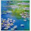 複製画 送料無料 絵画 油彩画 油絵 模写クロード・モネ「睡蓮〜青とピンク〜」F10(53.0×45.5cm)プレゼント 贈り物 名画 オーダーメイド 額付き 直筆