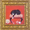 ドミンゲス/現代アート/子猫の毛糸(絵画・インテリア)