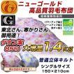 羽毛布団 シングル 掛け布団 日本製 ニューゴールド 立体キルト 1.4kg 150×210cm