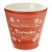 母の日 ギフト 2017 名入れ フリーカップ プレゼント ギフト 有田焼 ロックカップ(赤) 焼酎カップ 名前入り 送料無料