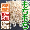 平成29年産 定期購入 送料無料 お米10kg×5回 玄米 白米 もちもち米