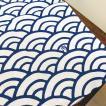 手ぬぐい「青海波」/総柄 江戸小紋/手ぬぐいマスクにおすすめ 手作りマスク 材料/和柄 おしゃれ 飾る/日本製 綿100%/日本土産 外国人に人気/アート蒼