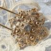 レトロテイストが人気の秘密、飾りが豪華なキルトピン