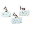 ハイエース 200系 DX パーツ LED ルームランプ 3点セット 超高輝度 SMD135灯 車内泊 室内灯 全年式適合 内装パーツ