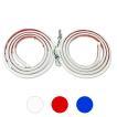 LED テープライト シリコンチューブライト 120cm 2本セット 全3色 デイライト アイライン ポジションランプ LEDチューブ DIY カスタムパーツ