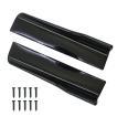 汎用 サイドカナード 45cm/未塗装 サイドステップ ABS素材 軽量 ブラック アンダースポイラー サイドスカート エアロ DIY アクセサリー カスタム 外装パーツ