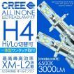 LED ヘッドライト H4 一体型/オールインワン 新デザイン 小型 CREE製 LED 3000LM/6000K 12/24V兼用 H4 Hi/Lo切替