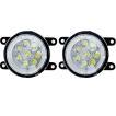 新型 ジムニー JB64W/JB74W 専用 LED フォグランプ イカリング付 フォグ ホワイト フォグライト 高品質/車検対応 LEDバルブ 外装パーツ
