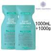 モルトベーネ クレイエステ シャンプーEX 1000ml + パックEX 1000g 詰め替え セット レビュー記入でおまけ付き