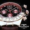 テクノス 腕時計 メンズ TECHNOS 限定モデル   選べる3タイプ スイスの名門 本革ベルト ピンクゴールド クロノグラフ リ メンズ T4161