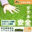人工芝 芝生 色までリアルなロール人工芝 芝丈20mm (幅1m × 長さ2m) 安全検査実施済