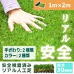 人工芝 芝生 色までリアルなロール人工芝 芝丈30mm (幅1m × 長さ2m) 安全検査実施済