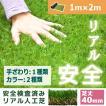 人工芝 芝生 色までリアルなロール人工芝 芝丈40mm (幅1m × 長さ2m) 安全検査実施済