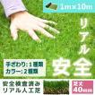 人工芝 芝生 色までリアルなロール人工芝 芝丈40mm (幅1m × 長さ10m) 安全検査実施済