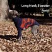 イタグレ柄セーター:ネイビー×オレンジ(イタリアングレイハウンド イタグレ服 ニット)メール便OK