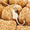 メンズ 猫 ネックレス ガーネット 一粒 ペンダント ピンクゴールドk18 ネコ ねこ 1月誕生石 18金 メンズ チェーン シンプル 人気