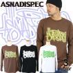 ロンT ストリート ブランド メンズ 長袖 Tシャツ プリント ASNADISPEC アスナディスペック ロゴ 大きいサイズ /3045/