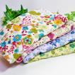 ガーゼハンカチ 8重ガーゼ ハンドメイド YUWA 水辺の花 フラワー 有輪 フラワー タオル 祝い プレゼント 母の日 出産 M