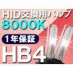 HID交換用バルブ / HB4 / 8000K / 2個セット / 1年保証 / 25W-35W-55W対応 / 12V
